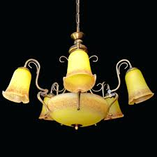 art deco glass chandelier antique french style art deco art yellow art glass chandelier 3 vintage