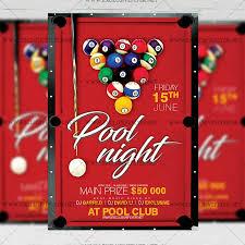 Pool Night Premium A5 Flyer Template