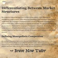 how to write an economics paper differentiating between market  about the market structure essay we re writing