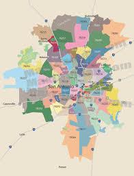 san antonio zip code map  zipcode map of san antonio texas