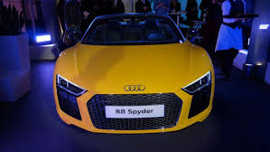 new car launches 2016 ukAudi R8 Spyder 2016 launches in the UK Virtual Cockpit interior