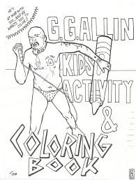 gg allin kids activity and coloring book cover by william schaff