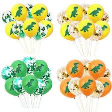 <b>10pcs</b> 12inch <b>Cartoon Dinosaur Latex</b> Balloons Birthday Confetti ...