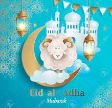 Eid Al-Adha Banner.Poster For Traditional Muslim Holiday With.. Royalty  Free Cliparts, Vectors, And Stock Illustration. Image 126069991.