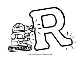 52 free alphabet coloring pages. Letter R Colouring Pages