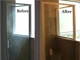 beautiful hard water stains on glass shower doors how to remove hard water stains off glass
