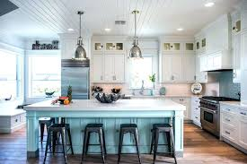 crystal kitchen cabinets reviews island lighting beach style with turquoise
