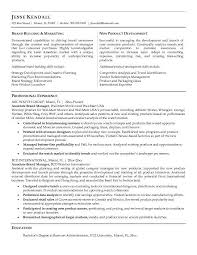 Developing A Targeted Brand Manager Resume Example EssayMafia Com