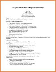 Curriculum Vitae Sample For Fresh Accounting Graduate 13 Resume Of 4