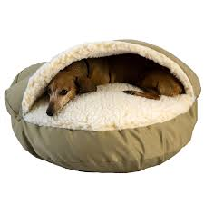 amazoncom  snoozer cozy cave olive small  pet beds  pet supplies