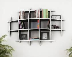OVAL BOOKCASE - template cnc cutting file - Sliced 3d Model Floating Shelves,  Hanging Bookshelf