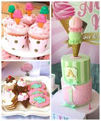 Karas Party Ideas Vintage Ice Cream Parlor Themed Birthday Party