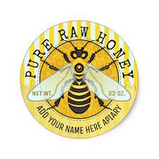 Honey Jar Labels Honeybee Honeycomb Bee Apiary Zazzle Com