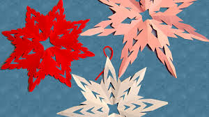 Decorative Items With Paper Make Snow Flakes From Paper Cutting To Decorate Your Room On
