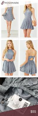 Kimchi Blue Lorraine High Neck Fit N Flare Dress Nwt Urban