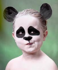 face makeup ideas kids little panda bear