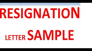 Sample Resignation Letter Tagalog Resignation Letter Sample