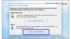 How To Activate Trend Analyser Charting Software Demo