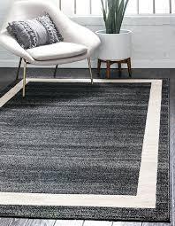 amazon unique loom del mar collection contemporary transitional black area rug 2 x 3 kitchen dining