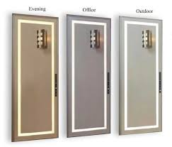 mirror with lighting. lighting settings evening office outdoor mirror with