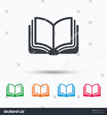 book icon study literature sign education stock vector  study literature sign education textbook symbol colored flat web icon on