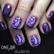 blue color colorful nail design