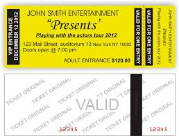 Avery Event Tickets Event Ticket Template Format Custom Design Ticketbooth