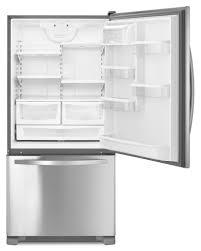 kenmore bottom freezer refrigerator. kenmore - 79343 22 cu. ft. bottom-freezer single door refrigerator- stainless steel | sears outlet bottom freezer refrigerator t