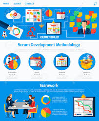Scrum Agile Development Methodology Website One Page Design With