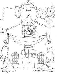 First Day Of Sunday School Coloring Pages Coloring Page For Kids