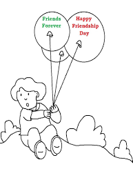 12 friendship day coloring pages printable | Print Color Craft