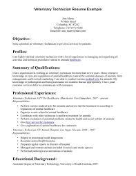 Veterinary Resume Samples Veterinary Technician Resume Vet Tech Resume Samples 100 100 2