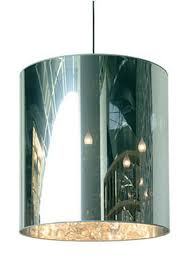 mirrored lighting. Hanging Lamp With Cylindrical Shade Mirrored Lighting H