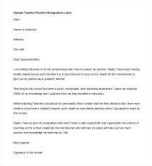 Sample Resignation Letter Position Sales Job Kinali Co