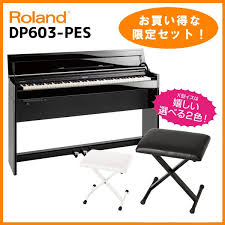 roland dp603 pes style of black mirror surface polish painting finish a set to be able to play a piano with an advantageous child