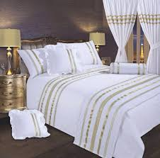 white gold colour stylish sequin duvet cover luxury beautiful glamour sparkle egyptian cotton bedding