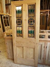 antique reclaimed stained glass front door