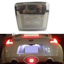370z Nismo Bumper Lights Smoke Lens 3 In 1 Led Rear Fog Light Assembly With 8pcs