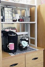 dorm room storage ideas. Whenever Possible, Try To Create Small Zones Around The Space That Function By Category. We Set Up A Coffee Station On Top Of Dresser, Dorm Room Storage Ideas L