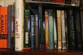 artemis fowl sitting right of center on my favorite books shelf