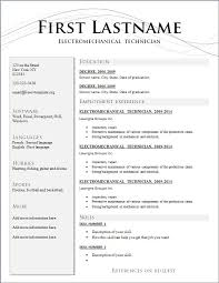 resume template 2014