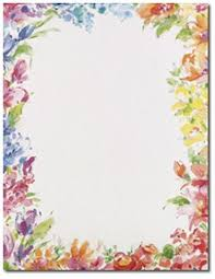 Paper With Flower Border Floral Border Paper Floral Border Borders For Paper