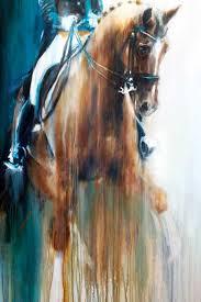 adelinde cornelissen and parzival abstract horse art print
