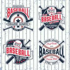 Baseball Designs Set Of Vintage T Shirt Graphic Designs Creative Print Stamps