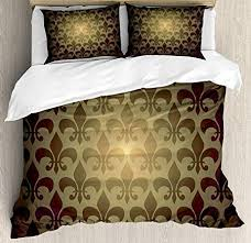 bedding with fleur de lis pattern. Plain Bedding Full Bedding Sets Fleur De Lis Decor Duvet Cover Set Royal Lily Flower  Inspired To With Pattern 0
