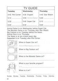 Tv Guide Chart For Short Crossword Oxford Activity Book For Children 6