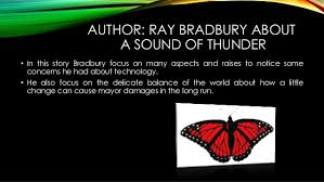 a sound of thunder  3 author ray bradbury about a sound of thunder