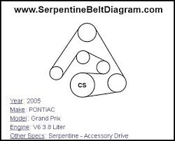 2003 pontiac grand prix serpentine belt diagram vehiclepad diagram for serpentine belt on 2005 grand prix diagram