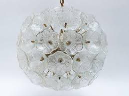 living mesmerizing glass flower chandelier 24 murano from 1960s 4 glass flower ball chandelier