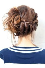 French Braid Updo Hairstyles Messy Braided Bun I Can Do This But This Week Is Bun Week As